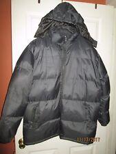 Men's SILVER CREST Gray Puffer Hooded Jacket Size XL EUC