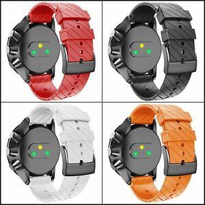 For Suunto 9/9 Baro Copper Watch Band,24 mm Soft Silicone Strap Wristband for ..