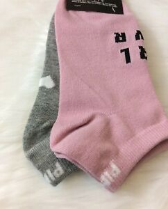 Victoria's Secret PINK Low Show 2-pack Socks - 100% Genuine - UK SELLER