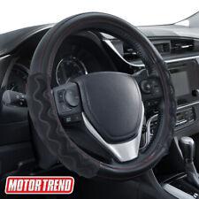 Motor Trend Carbon Fiber Max Grip Steering Wheel Cover Universal Fit Black