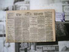The World Newspaper October 18th 1864 Civil War