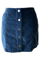 New Altar'd State Women's Corduroy Skirt Solid Blue Size Large