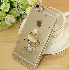 Shine Bling Transparent Clear Crystal Diamonds PC Hard Back Case Cover Skin #A-1