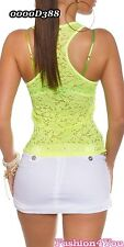 Womens Lace Top Summer Casual Ladies Polo Shirt ONE SIZE 8,10,12 UK New