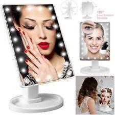 Touch Screen 22 LED Light Illuminated Make Up Cosmetic Bathroom Vanity Mirror UK