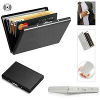 Men's Stainless Steel Card Holder Wallet Money Clip Cash Slim Pocket Card Case