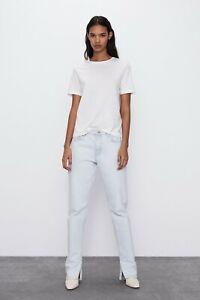 ZARA WOMEN BASIC cotton 100% T-shirt SIZE L