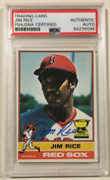 1976 Topps JIM RICE Signed Autographed Baseball Card PSA/DNA #340 Boston Red Sox