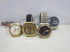 4 Retro Men's Wrist Watches- Timex, Seiko & Elgin