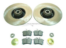 RENAULT MEGANE TOURER 2003-2008 REAR BRAKE DISCS & PADS WHEEL BEARINGS ABS RINGS