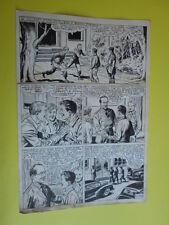 "SERGIO TARQUINIO-tavola originale FIRMATA pagina-129 -""3 Storie Avventurose""1954"
