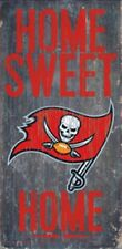 """Tampa Bay Buccaneers Home Sweet Home Wood Sign 12"""" x 6"""" [NEW] NFL Man Cave Wall"""