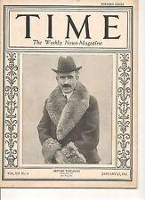 Time Magazine January 25, 1926 Arturo Toscanini