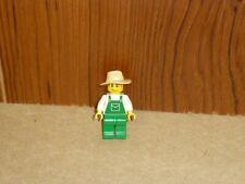 LEGO City MINI FIGURE -ovr036- tractor driver