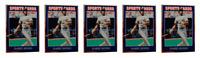 (5) 1992 Sports Cards #33 Barry Bonds Baseball Card Lot Pittsburgh Pirates