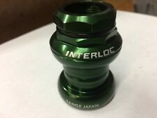 "Interloc Racing Design Techno-Glide, 1"" Threaded-Green;25.4 crown.Made by Tange"