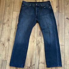 Levi's 501 Button Fly Men's Jeans Faded Black Wash 36 X 30