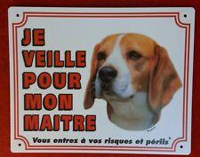 Plaque chien Je veille pour mon maître Beagle