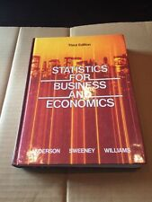 Statistics For Business And Economics Third Edition 1987 Hardcover Book