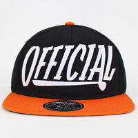 Stay Official - Black and Orange Applique Snapback