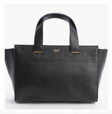 Giorgio Armani Charniere Doree Black Leather Handbag Tote Italy RTL over $2,000