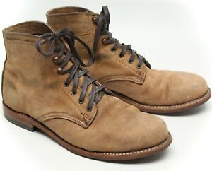 Wolverine Mens 1000 Mile Boots 11 D Light Brown Leather W40304 Rough Out Rugged