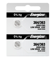 Energizer 364 363 Silver Oxide Coin Cell Batteries 2 Pack (new)