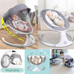Bluetooth Electric Rocker Baby Swing Infant Cradle Bouncer Seat Chair w/Soft Toy