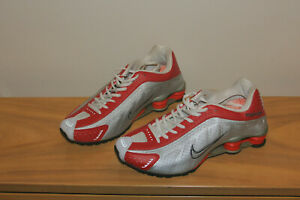 Nike Men's Shox Red/White/Silver Leather Espionage Records NEW 9.5