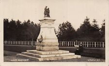 VICTORIA BC~ROBERT BURNS MONUMENT~NATL POET OF SCOTLAND~REAL PHOTO POSTCARD 1909