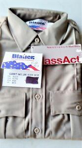 Blauer 8400 ClassAct Silver Tan Long Sleeve Shirt Size 15.5 - 37