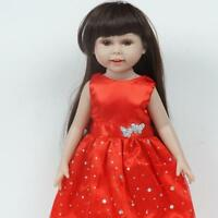 18 Inch Doll Dress Dolls' Clothes Fluffy Skirt Sequins Red With Silver Dots