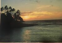 Hawaii Decor Prints Tropical Sunset Reflections Postcard Colorscans