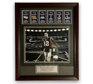Tom Brady Unsigned Photo Collage Framed To 16x20