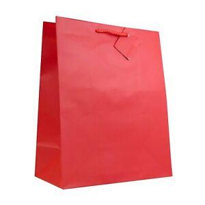 "Allgala 12PK Premium Large Solid Color Matte Finish Paper Gift Bags 13x10.5x5.5"""