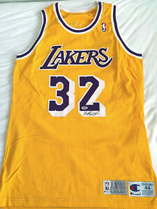 Magic Johnson Autographed Champion 1992-93 Pro-cut Los Angeles Lakers Jersey