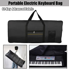 Portable Durable 61-Key Electric Piano Keyboard Bag Advanced Fabric Black