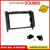 CT24MB16 Black Car Stereo Radio Double Din Fascia Adapter Frame for Mercedes