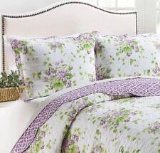 Waverly - Lilac Dreams - 3 Piece Reversible Quilt Set - 100 Cotton - KING