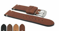 Bandini Vintage Leather Watch Band Strap, Distress 20mm 22mm 24mm