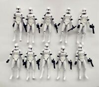 lot of 10 Hasbro Star Wars Clone Wars No.5 Clone Trooper action FIGURE 3.75""