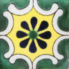 #C096) Mexican Tile sample Ceramic Handmade 4x4 inch, GET MANY AS YOU NEED !!
