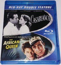 Casablanca (1942) / The African Queen (1951) Blu-ray Rare Oop (Water Damage)
