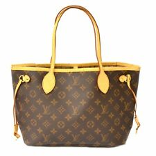 Authentic Louis Vuitton Monogram Shoulder Hand Bag Tote Neverfull PM Brown Gold