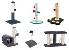 CAT SCRATCHING POLE Post Pad Scratcher Play Stand Scratch Toy Ball Kitten