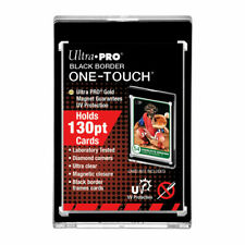 5 Ultra Pro One Touch Magnetic Card Holder 130pt Black Border with UV Prot