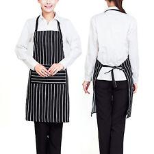 Chosen Men Women Solid Cooking Kitchen Restaurant Bib Apron Dress with Pocket