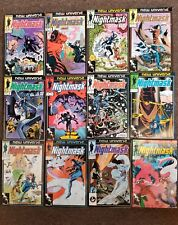 Marvel comics New Universe Nightmask complete set 1,2,3,4,5,6,7,8,9,10,11,12
