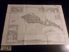 Antique Vintage  US Navy  Nautical Chart Aeronautical Map   Neu Hannover Pacific