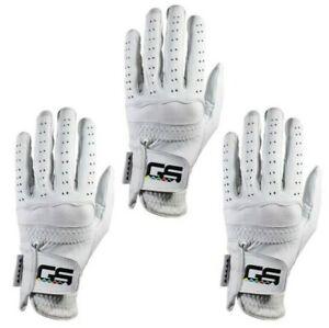 GS Golf Glove 100% PREMIUM New Men's Cabretta Leather! 3-Pack!